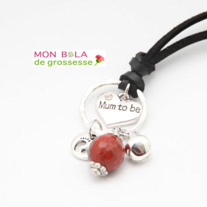 collier de grossesse avec pierre semi-précieuse