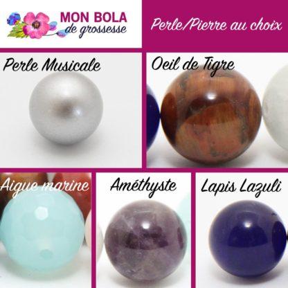 perle et pierre semi-précieuses au choix pour votre bola