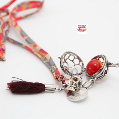 bola Perle naturelle d'Agate Rouge