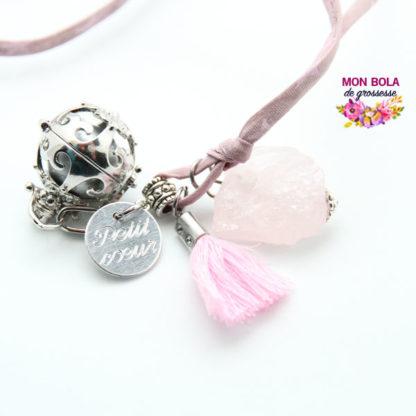 bola quartz rose