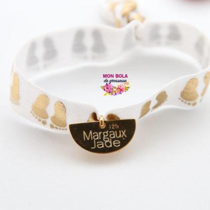 bracelet élastique avec médaille pour maman