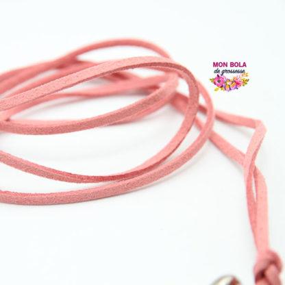 cordon suédine pour collier de grossesse