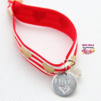 bracelet élastique marinière rouge