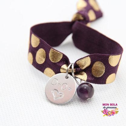 bracelet avec pierre améthyste