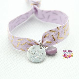 bracelet de grossesse gravé pour maman