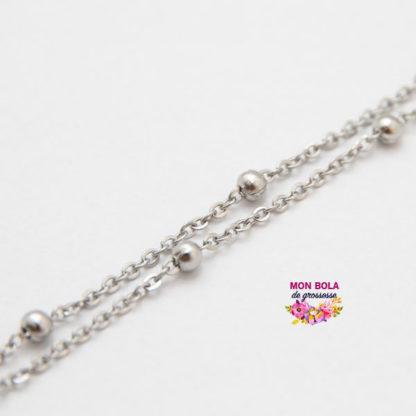 chaine perlée pour bijou de grossesse