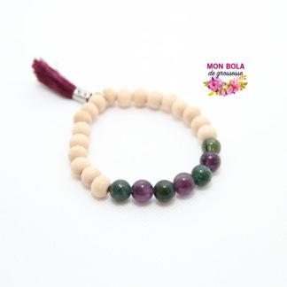 bracelet lithothérapie pour accouchement