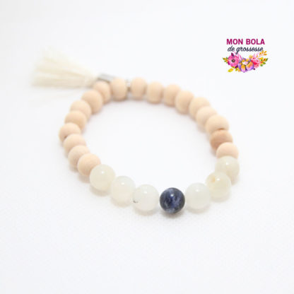Bracelet allaitement en pierres naturelles