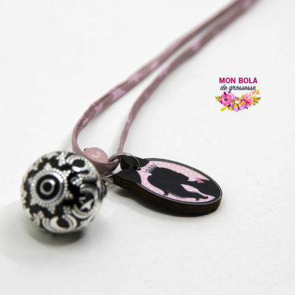 bola avec sa perle de quartz rose