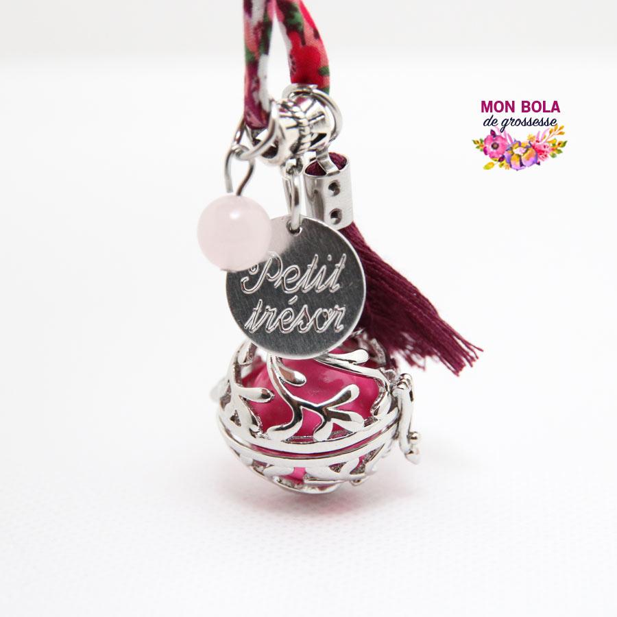 bola de grossesse avec quartz rose
